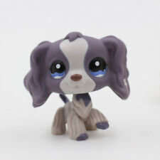 Littlest Pet Shop LPS Figure Gray Purple Cocker Spaniel Dog Puppy 1209 Toys