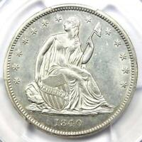 1840 Seated Liberty Half Dollar 50C - PCGS Uncirculated Details (MS UNC) - Rare!