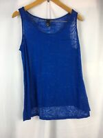 Womens H&M Size M Tank Top Vest Cami Blue sleeveless blouse