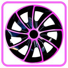 "4x15"" Wheel trims covers for Mercedes Citan 15"" black/pink"