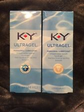 2 PACK K Y UltraGel Personal Water Based Lubricant, 1.5 oz Each