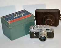 "1960 RUSSIAN USSR ""MIR"" M39 camera + JUPITER-8 lens f2/50mm, BOXED"