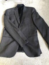 Traje de chaqueta de hombre, tallas 38R a partir de la próxima Gris y Negro