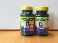 Spring Valley Vitamin D3 25 Mcg Supplement Vitamins Immune Health 200 Softgels