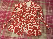 Gorgeous Boden Red floral  double breasted Coat Size 14