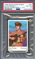1960 Dutch Gum Card Serie L #75 ELVIS PRESLEY Playing Guitar Army Uniform PSA 4