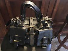 MULBERRY Roxanne Black Large Satchel Handbag Purse