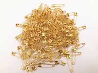 100 PCS Small Metal Safety Pins Findings Craft Sewing Gold 2CM