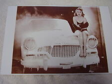 1956 STUDEBAKER COLD WEATHER TESTING ROOM WITH MODEL  11 X 17  PHOTO  PICTURE