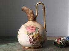 c1880s Antique English (Royal) Doulton Burslem Aesthetic Blush Porcelain Jug.