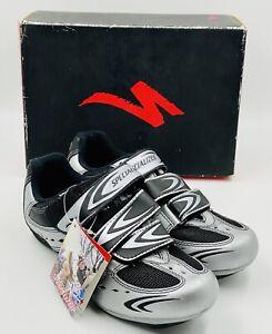 Specialized Sport Road Women's Cycling Shoes Body Geometry Sz 6 Black Silver NEW