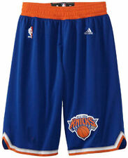 New York Knicks New Youth Royal Replica Basketball Shorts By Adidas
