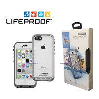 New! LifeProof Nuud Waterproof Case for Apple iPhone 5C Glacier, White