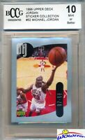 1998 Upper Deck #52 Michael Jordan Sticker BECKETT 10 MINT Bulls HOF