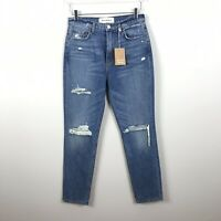 NEW Reformation 28in Julia High Cigarette Antigua Jeans Distressed B20