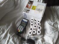 Hypercom T4210 Dial Credit Card Terminal Machine w/power cord and box
