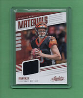 2019 Panini Absolute Ryan Finley Rookie Materials Relic Jersey #36 Bengals RC