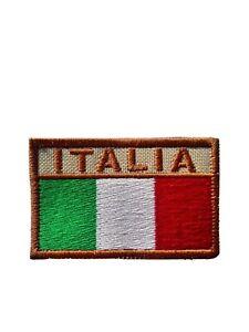 Patch rettangolare Tricolore ITALIA sfondo desertico militaria collezionismo