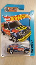 Hotwheels 2013 HW City '67 Austin Mini Van blue