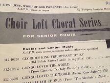 19 Copies JESU, WORD OF GOD INCARNATE-AVE VERUM Mozart SATB Choir Sheet Music