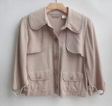 Tommy Bahama 100% Silk Tan Women's Blazers Size-6