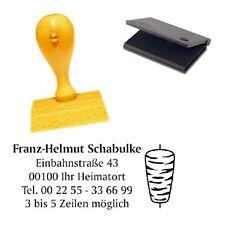 Adressenstempel « DÖNER » mit Kissen - Firmenstempel Imbiss Kiosk