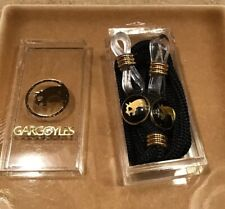 Nos Vintage Gargoyles Sunglasses Eye Reading Glasses Retainer Cords Black