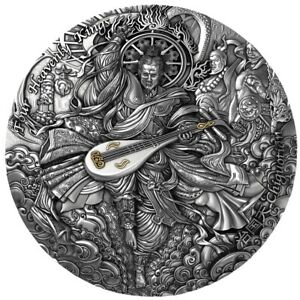 5 Dollar Niue 2021 AF - 2 OZ Four Heavenly Kings Chiguotian 2021