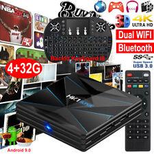 HK1 SUPER 4+32G Android 9.0 OS TV BOX Quad Core KeyboardI8 4K UHD Dual WIFI BT