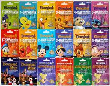 18 Different DISNEYLAND 50th Anniversary 2005 Passport Gift Cards Mint Complete