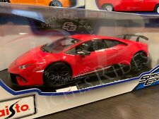 ALL NEW Maisto 1:18 Scale Diecast Model - Lamborghini Huracan Performante (Red)