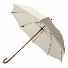 New Burberry Umbrella Horse mark Wood handle White Ladies 60cm from Japan