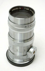 Nikon Nikkor 1: 3.5 cm (135mm) f 3.5 Q.C. Nippon Kogaku Lens Rangefinder Chrome