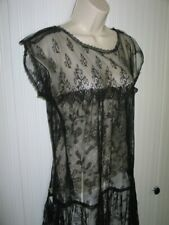 Antique French Lace Flapper Dress-Delicate Silk French Chantilly Lace