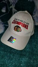 2010 Chicago Blackhawks Stanley Cup Champions beige hat cap with hologram champs