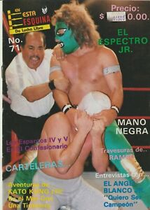 "En Esta Esquina #71 Mexican Wrestling 1990 ""Espectro JR"" Good Condition Spanish"