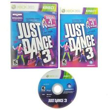 Just Dance 3 Kinect (Microsoft Xbox 360, 2011) Complete with Manual CIB