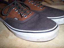 Vans Authentic Classic Skate Shoes Canvas Brown & Olive Mens 12M Casual Oxfords