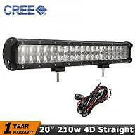20 inch 210W 4D Spot Flood Combo Beam LED Light Bar  Lamp  4X4 With WIRE HARNESS