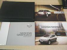 NISSAN QASHQAI, +2 OWNERS HANDBOOK 2007-2010 inc connect sat nav