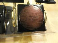 NIB 12 piece Brown woodgrain circle & BLACK ~Square~GEO~SHOWER CURTAIN HOOKS