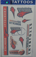 CHARLOTTE BOBCATS TEMPORARY TATTOOS 1 SHEET OF 7 TEMPORARY TATTOOS FREE SHIPPING