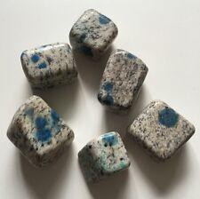K2 Tumblestone, A Grade 15g, Azurite in Granite, Chakra, Reiki Healing Crystals