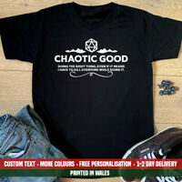 Chaotic Good Alignment T Shirt Dungeons and Dragons D&D Fathers Day Gift Top DnD