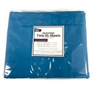 OCM Microfiber Blue Twin XL Sheets 94963
