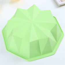 DIY Pastry Silicone Diamond Shape Bake Pan Round Cake Mold Bread 3D Mould
