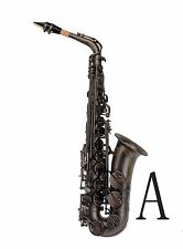 100% New Professional Eb Matt Black Surface Black Key High F# Alto Saxophone