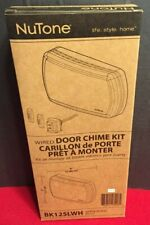 One (1) New NuTone White Wired Door Chime Kit BK125LWH Doorbell