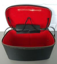 Vintage Black Shoulder Camera Bag with Red Lining