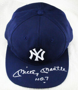 ****Mickey Mantle Signed Autographed NO. 7 New York Yankees Hat Cap PSA/DNA****
